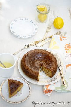 Italian Recipes...Torta polenta e limone