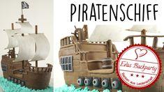 Piratenschiff als 3D Fondanttorte / Piratentorte / pirate ship / Backen ...