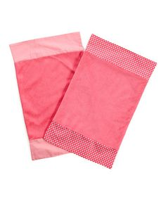 Take a look at this Pink Simplicity Burp Cloth Set by One Grace Place on #zulily today!