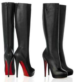 bota cano longo salto fino/ boot pipe long thin heel
