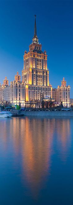Hotel Ukraine at Sunset, Moscow, Russia