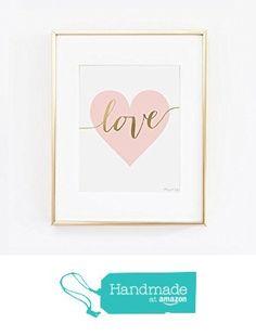 Pink Heart and Gold Love Art | Happy Valentines Day | Wall Decor Art | Pink Heart and Gold Love Print | Home Wall Decor | Office Decor | Nursery Wall Decor | Wedding Gift | Baby Shower Gift from Penny Jane Designs https://www.amazon.com/dp/B01BI5D9NU/ref=hnd_sw_r_pi_dp_6FmVybNZJ0242 #handmadeatamazon