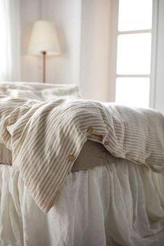 37ad19fefa6 Flax stripes Linen Duvet cover-15 colors - Pre washed Linen Duvet Cover- Linen bedding-Stonewashed duvet -Natural Duvet Cover  November rain