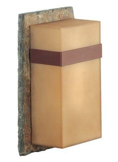 """Kenroy Home 70505SL Sacramento Small Wall Lantern by Kenroy Home. $117.18. From the Manufacturer                Kenroy Home Sacramento small wall lantern. Slate with painted copper finish and painted copper acrylic shade.  Natural materials and an organic look define the modern architectural style. This carefully crafted entry lantern adds distinction to any home. Bulb included. Energy Star rated.                                    Product Description                """"..."""