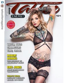 The new Tattoo Energy magazine is out! Don't miss the interview with @grindesign and Eric Jones @portcitytattoocm Cover model @itsmadisonskye Ph. @kellylynnmartellphoto  #tattoolife #tattooenergy #tattoospecial #tattoocollection #tattoolifegallery #tattoolifemap #tattoolifemagazine