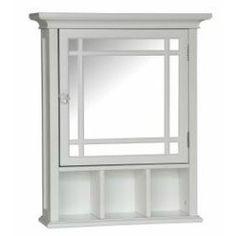 White Bathroom Medicine Cabinet with Mirror