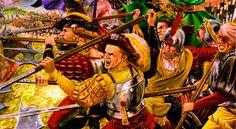 German Landsknecht mercenaries in battle, War of Religion