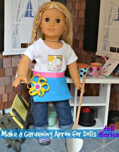 Make a Gardening Apron for Dolls