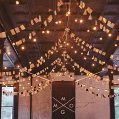 Ceiling decorations and garlands