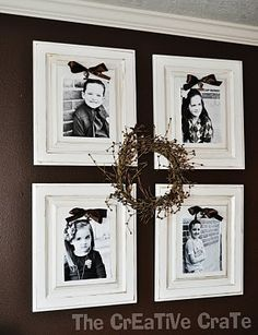 Cabinet doors repurposed into picture frames - for those cabinet doors I have left over