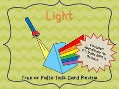 Light True or False Task Cards