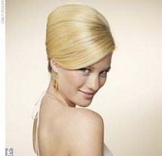 Audrey Hepburn Bouffant wedding hair