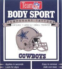 DALLAS COWBOYS Snazaroo Temporary Tattoo by Snazaroo. $5.96. Apply to the skin, wet with a damp sponge or cloth and hold for 20 seconds.. Then remove the paper and the tattoo is on the skin for days. High quality temporary tattoos that apply with water. These temporary tattoos apply to the skin and will last for days even if you get them wet.. If you wish to remove it you can use a little rubbing alcohol to a wash cloth and wipe it off.
