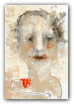 Original Portrait Painting Abstract Portrait by ChristinaRomeo, $45.00