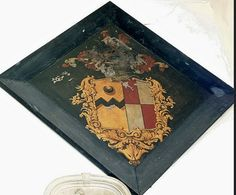 Hatchment - 1833 William Vavasour great-grandson of William Vavasour, of Weston Hall and Mary eldest daughter of Thomas Fawkes of Farnley Hall. He m Sarah daughter of John Cooke of Swinton.