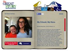 Check out May 2014 My Great Story of the Month Contest Winner, My Friend, My Hero, by Katie Boyd-Dias of North Caldwell, NJ. Share your story at ndss.org/stories!