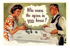 Who wears the apron in your house? #vintage #domestic_life