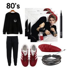 """""""80's"""" by intanhannahmarysa on Polyvore featuring Madonna, Brunello Cucinelli, adidas, Gucci, Zodaca and NARS Cosmetics"""