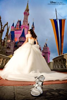 Every princess needs a glass slipper! This would be a cool shot to take. I must look into getting some pics at Disneyland for her sweet 16