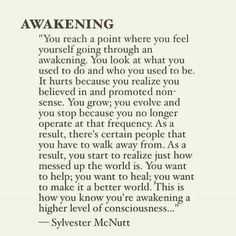 This resinates SO much with me right now. I feel myself awakening, its wonderful yet terrifying all at once. Learning not to pitty those who are asleep is my current challenge. Spiritual Enlightenment, Spiritual Growth, Spiritual Awakening Quotes, Spiritual Quotes Universe, Spiritual Awareness, Spiritual Path, Spiritual Wisdom, Mantra, Reiki