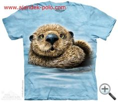 Cotton Short Sleeve Unisex Kids' Tops & T-Shirts Zoo Animals, Animals For Kids, Kids Zoo, River Otter, 3d T Shirts, Personalized T Shirts, Custom T, Otters, Screen Printing