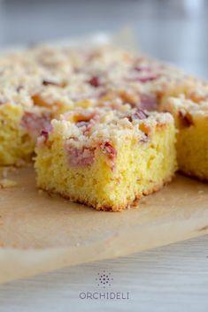 Błyskawiczne ciasto z rabarbarem - Orchideli Domowy Cukiernik Cornbread, Biscotti, Muffin, Food And Drink, Menu, Yummy Food, Sweets, Cooking, Breakfast