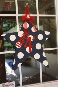 Etsy star door decorations | Star Door Hanger July 4th Decoration by aWhimsicalWelcome on Etsy