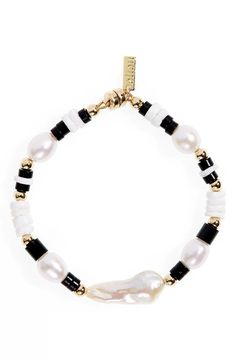 Pearl Bracelet, Beaded Bracelets, Keep Jewelry, Baroque Pearls, Bracelet Designs, Anklets, Round Beads, Nordstrom, Gold
