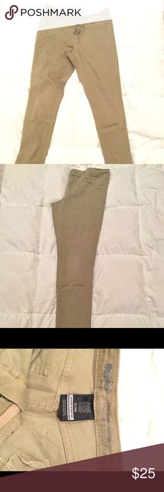 Khaki skinny jeans Very fashion friendly skinny jeans. Dress up or dress down they're perfect for any occasion. Mossimo Supply Co Jeans Skinny