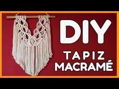 Crea este Tapiz de Macramé paso a paso - YouTube Diy, Youtube, Craft, Orange, Macrame Wall Hangings, Create, Bricolage, Do It Yourself, Homemade
