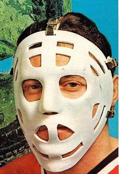 Tony Esposito Blackhawks Hockey, Hockey Goalie, Chicago Blackhawks, Hockey Players, Hockey Room, American Football League, Goalie Mask, Masked Man, Sports Figures