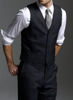 Groom and Groom's men. All black for groom's men and all black with a white shirt for groom.