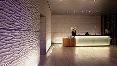 Larger view Hotel Lobby Design, Sandstone Wall, Radisson Hotel, Stone Supplier, Stone Panels, Urban Fabric, Big Design, Lobbies, Stone Tiles