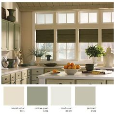 Benjamin Moore paints used in the beautiful green and neutrals relaxing kitchen pictured above! Ceiling: Regal® Flat Finish N215 in Raintree Green 1496 Cabinets: Regal … Read More