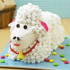 Your kids will love helping create this lamb cake for Easter!
