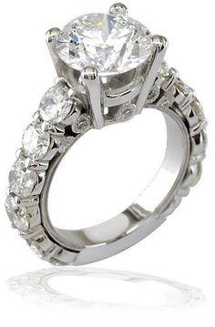 Best La Scala K Gold u Diamond Engagement Ring