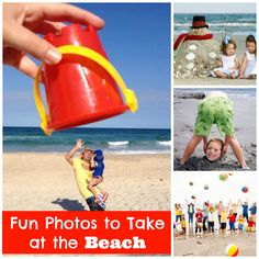 fun photos to take at the beach - such easy and adorable ideas