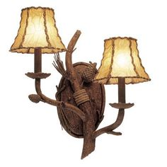 Kalco Ponderosa 2 Light Wall Bracket (Left) Shade Type: Dark Brown