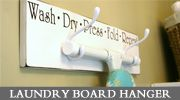 """On my """"to do"""" list! Finally, a decorative way to store my ironing board."""