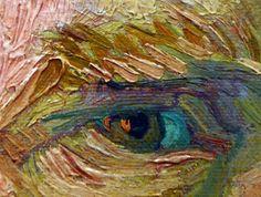 Van Gogh, Self-Portrait Dedicated to Paul Gauguin detail of eye | by profzucker
