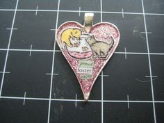 Proud Foster Mom Kitty Pendant 10% goes to the by scrappyrat