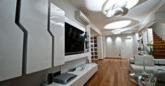 Έπιπλο τηλεόρασης σε λευκή λάκα