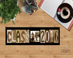 CLASS OF 2016 Sign  Graduation Present  Photo Prop by StudioEGifts