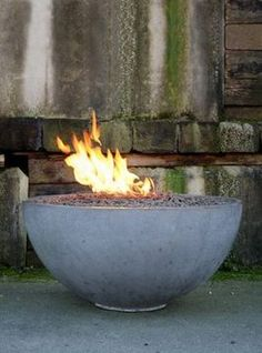 how to make a concrete fire bowl.