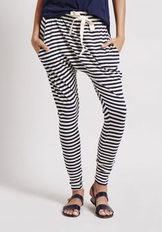Bassike | Stripe Slouch Jersey Pant III | WWW.TUCHUZY.COM