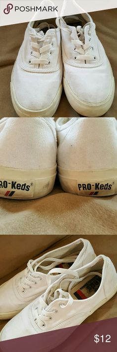 White Pro-Ked Sneakers Super cute! A little dirty but very little wear and tear. They wash up beautifully! Pro-Keds Shoes Sneakers