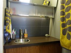 RV bathroom remodel under $100 :: from Do It Yourself RV.com { Incredible resource with guides for all things RV }