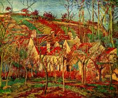 Camille Pissarro, The red roofs, 1877