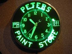 Image result for antique advertising neon wall clock