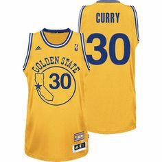3c28a8ba9 Adidas NBA Golden State Warriors 30 Stephen Curry Soul Throwback Swingman  Yellow Jersey Basketball Uniforms